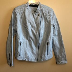 Tommy Hilfiger Leather Jacket Asymmetrical Zipper